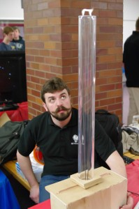 Ben Ziegler demonstrates the Jacob's Ladder during the 2nd Annual Cedar Rapids Maker Faire on April 27, 2013.