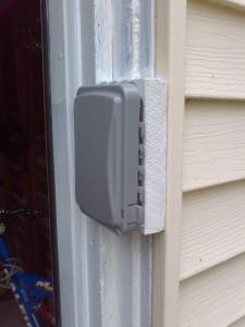 Control box mounetd outside