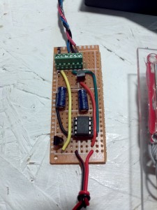 This goes inside, provides 3.3V, confirms authorized user, and opens door
